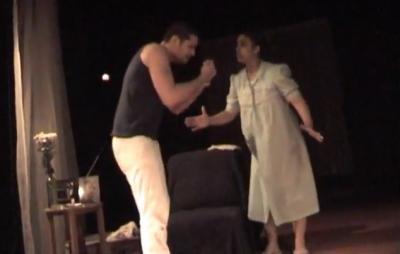 """Escena de """"Caldo de Gallina"""", de Arnold Wesker. Adaptación y Dirección: Raquel Pulido"""